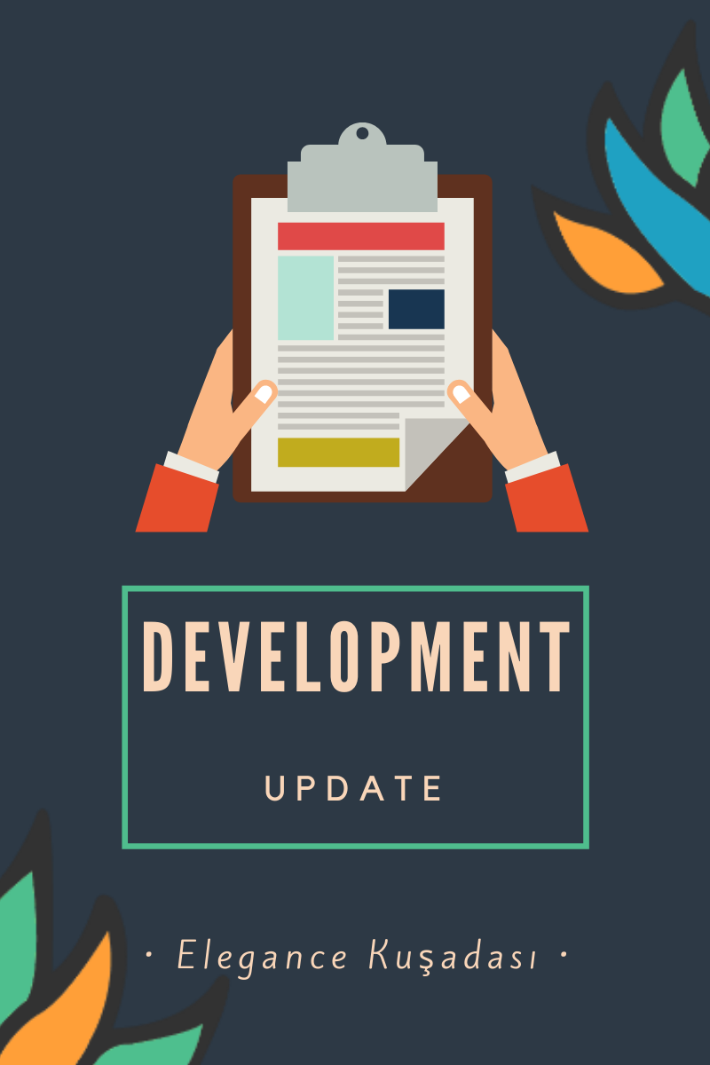 blog banner. Text overlay reads: Development Update. Kusadasi Apartments