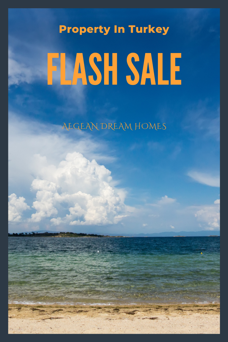 Blog banner reads: Property In Turkey Flash Sale. Aegean Dream Homes