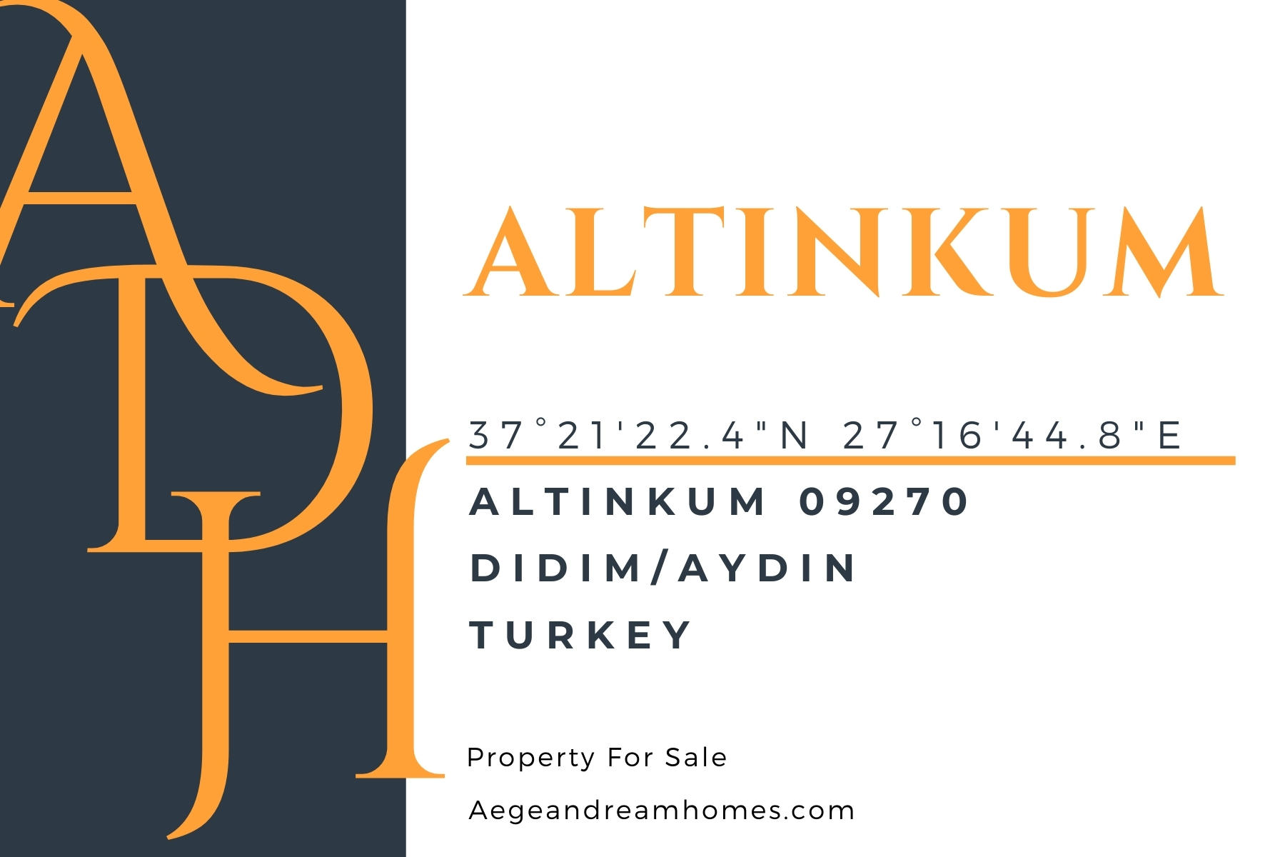 Altinkum postcard. Altinkum address, locations and property for sale.