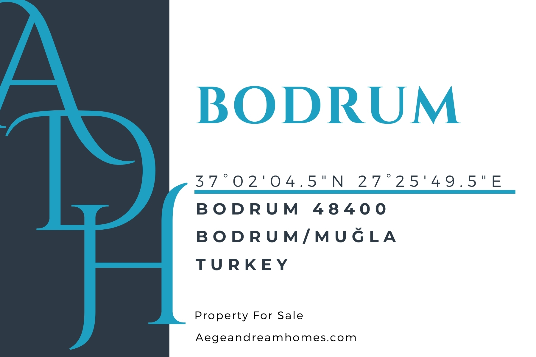 Bodrum postcard. Bodrum address, locations and property for sale..